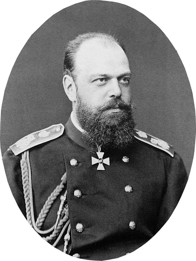 Photograph of Tsar Alexander III of Russia in military uniform
