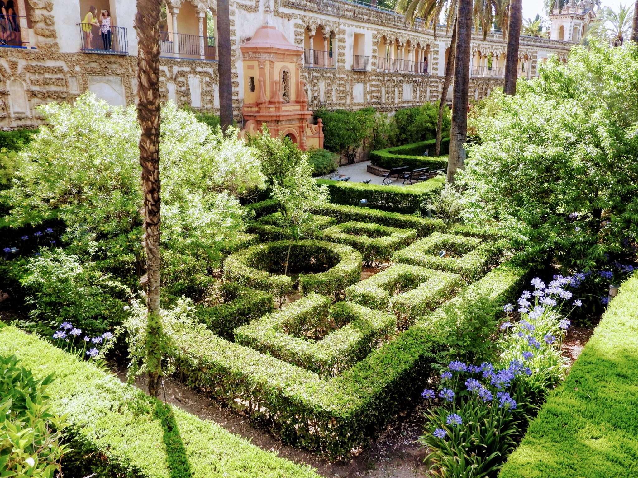 Mannerist style garden at the Alcazar palace, Seville, Spain