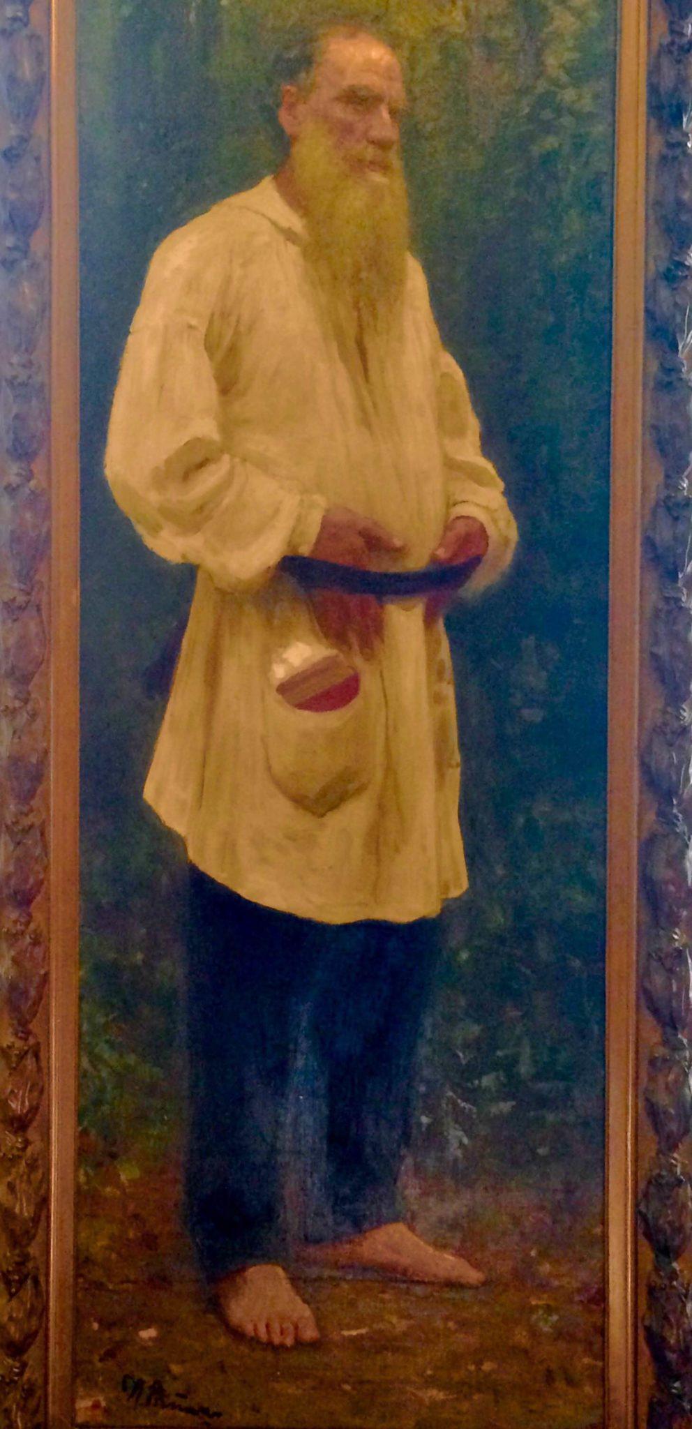 Portrait of older man in peasant tunic