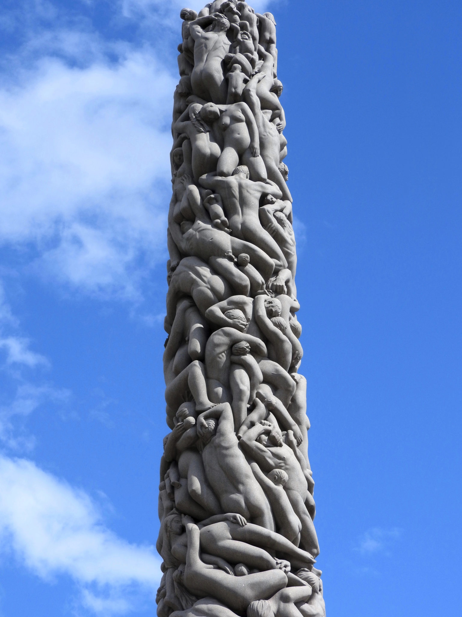 Stone monolith showing intertwined bodies
