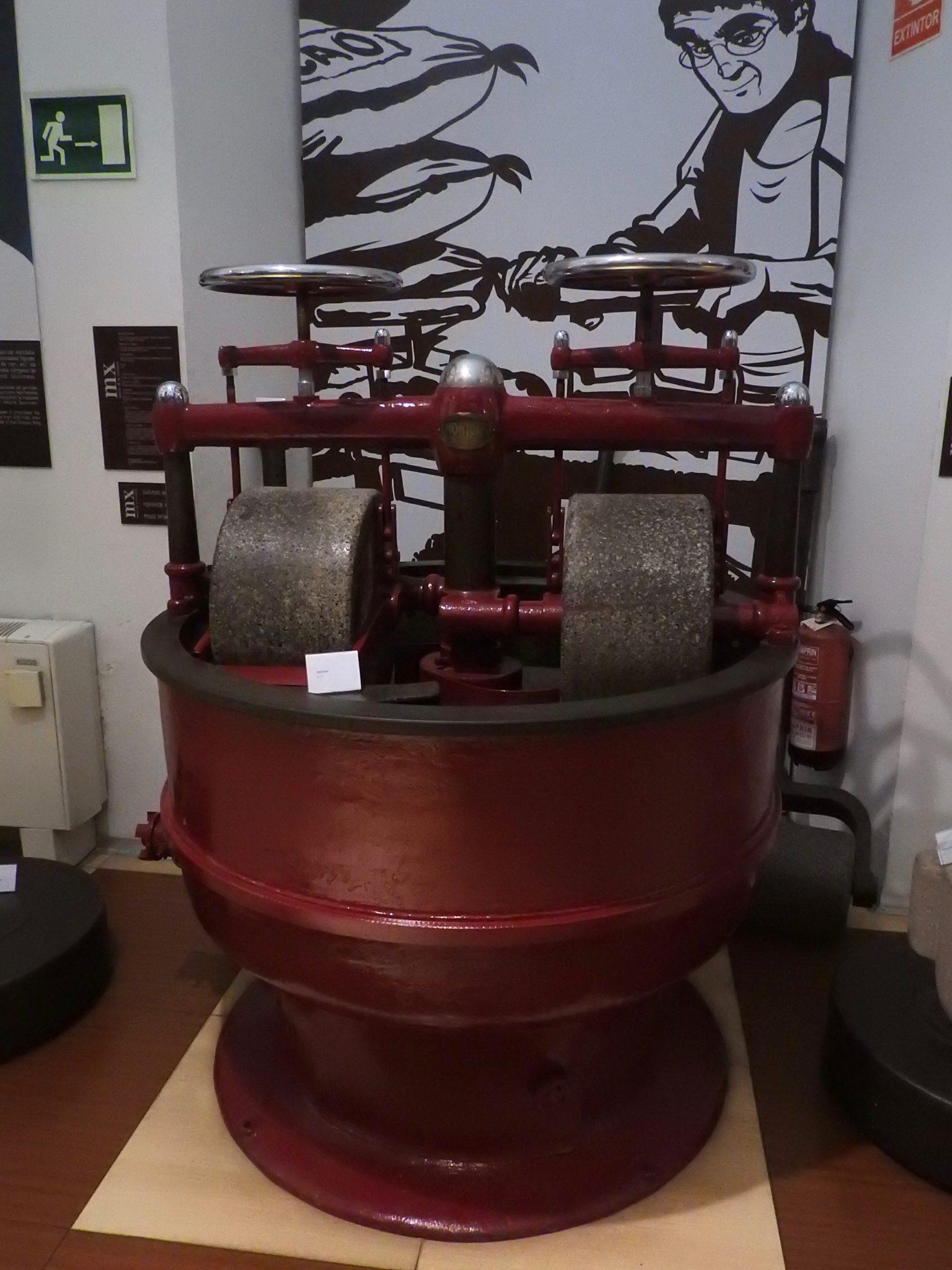 red mechanical mixer