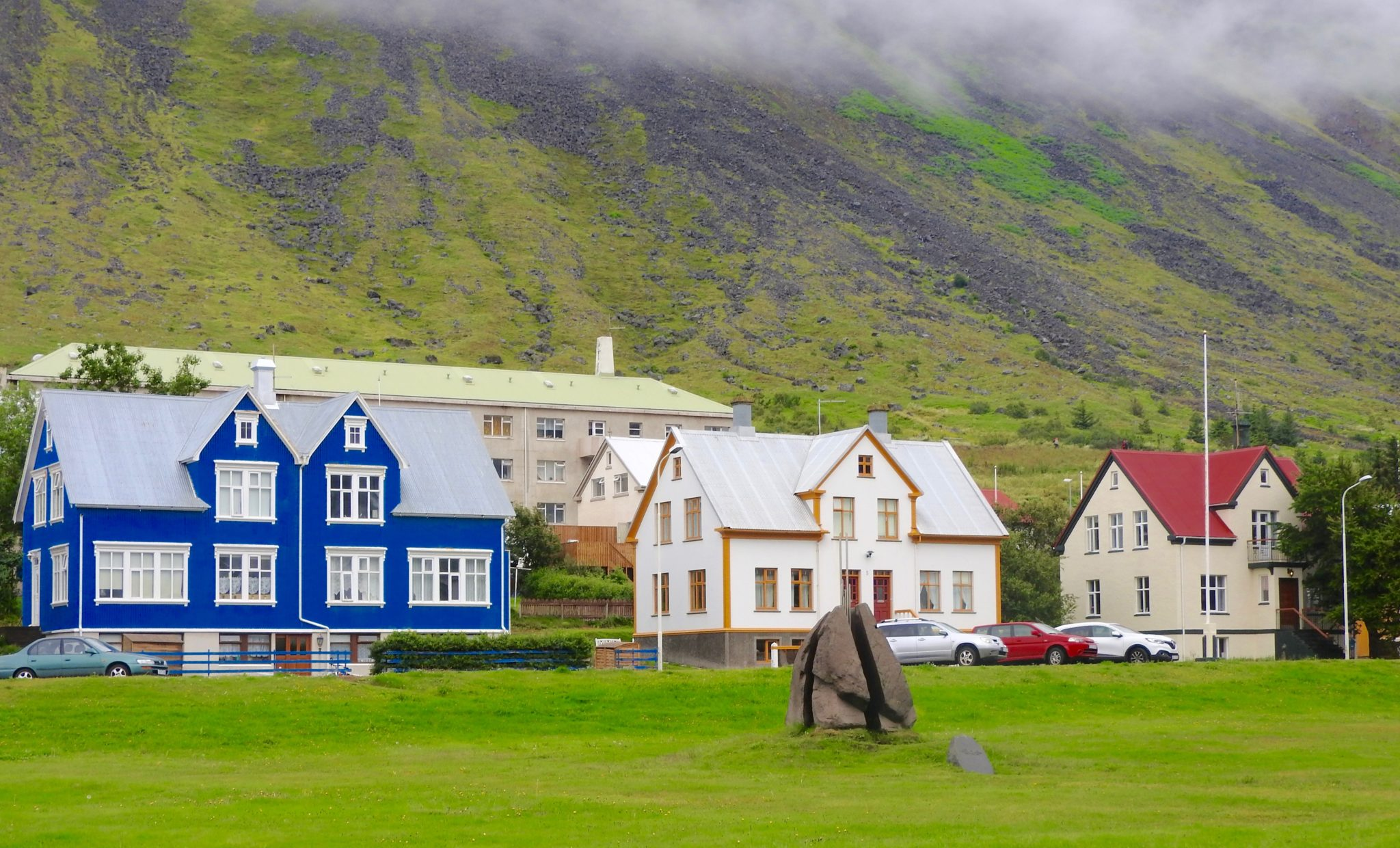 colored wooden houses Iceland