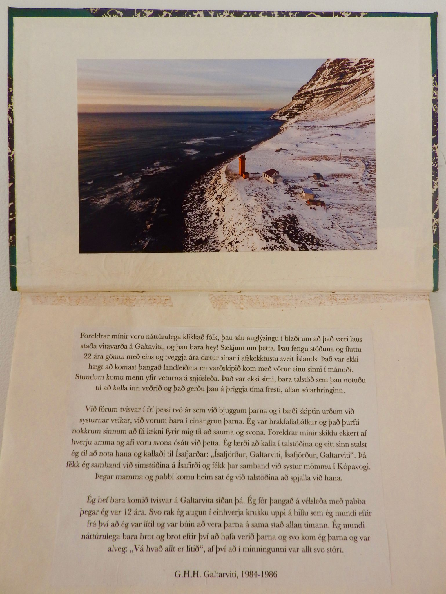Book inside cover with photo